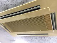 オフィス 入居前カーペット床洗浄クリーニングと業務用エアコンクリーニング リピーター様 鹿児島市内 おそうじ本舗鹿児島西田店 東芝4方向エアコン1