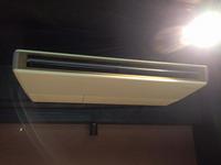 飲食店 業務用エアコンクリーニング×2 鹿児島市 おそうじ本舗鹿児島西田店 ダイキン天井吊り下げ型1方向エアコン 機種1