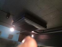 飲食店 業務用エアコンクリーニング×2 鹿児島市 おそうじ本舗鹿児島西田店 ダイキン4方向エアコン 機種1