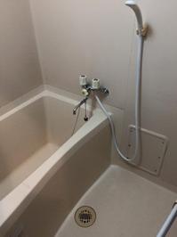 社宅 空室1kアパートタイプ まるごとハウスクリーニングパック 鹿児島市内 浴室クリーニング完了
