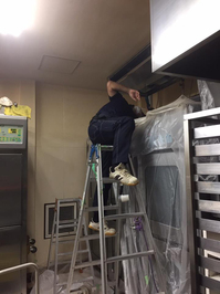 中規模 お得意様 店舗内全業務用エアコン定期分解洗浄クリーニング 鹿児島市谷山方面 おそうじ本舗鹿児島西田店 作業中画像⑥
