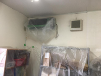 (定期) パン屋さん 業務用エアコン洗浄、床洗浄除菌ワックス、窓ガラスクリーニング他 鹿児島市紫原方面⑥