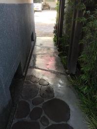 定期 料亭様 清掃サービス 鹿児島市照国方面 おそうじ本舗鹿児島西田店 玄関外回りコンクリート床洗浄