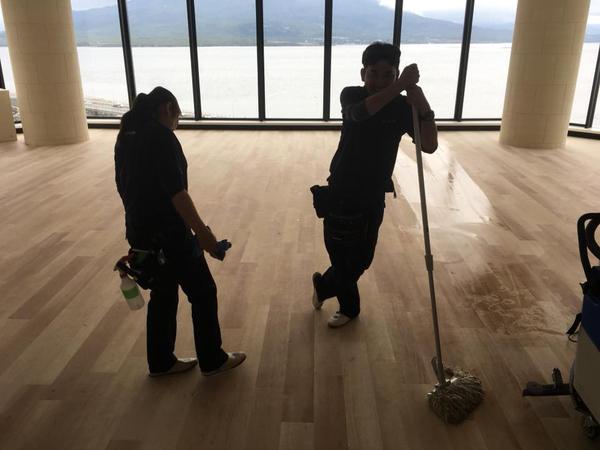 (大規模) 竣工美装 病院施設2日目 鹿児島市与次郎方面