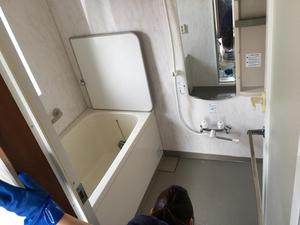 引越しハウスクリーニング繁忙期!毎日サービス中。浴室画像 おそうじ本舗鹿児島西田店