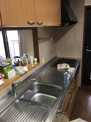 引越しハウスクリーニング繁忙期!毎日サービス中。キッチン画像 おそうじ本舗鹿児島西田店