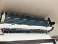 ④昨日の対応のお客様。おそうじ機能付きエアコンのクリーニング×2台 おそうじ本舗鹿児島西田店