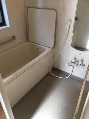 浴室清掃完了 お引越しシーズン繁忙期!3ldk まるごとハウス・エアコンクリーニング おそうじ本舗鹿児島西田店